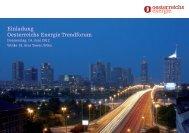 Einladung Oesterreichs Energie Trendforum