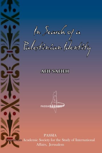 In Search of a Palestinian Identity - PASSIA