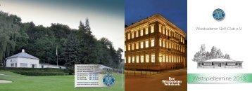 Wettspielkalender 2013 - Wiesbadener Golf-Club eV