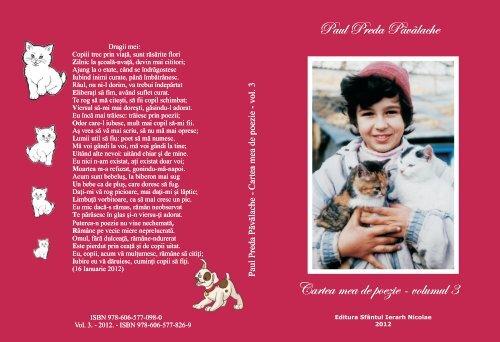 Coperta Cartea mea de poezie Pavalache vol 3.cdr