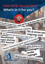 VNO-NCW Noord 2011: What's in it for you?
