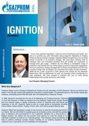 Ignition, Issue 1 - Gazprom Marketing & Trading