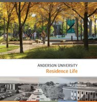 Residence Life Brochure [PDF] - Anderson University