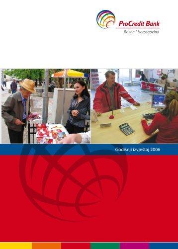 Godišnji izvještaj 2006 - ProCredit