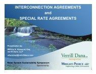 Water System Sustainability Symposium - Verrill Dana