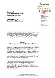 Se hele studieordningen for skuespilleruddannelsen - Syddansk ...