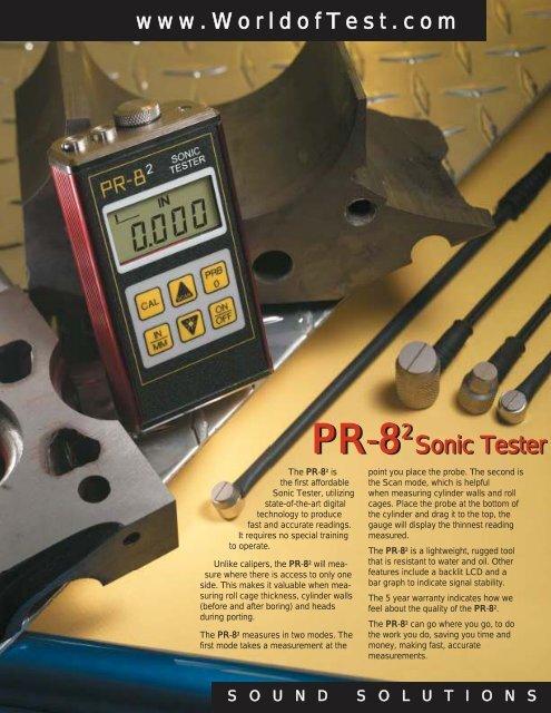 Download & Print PR-8² Sonic Tester Literature (PDF
