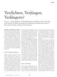Verdichten, Verjüngen, Verlängern? - Colliers International Zurich