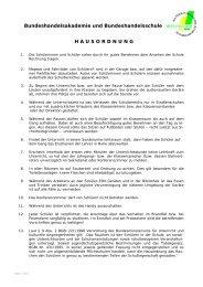 Hausordnung(PDF) - HAK HAS Mistelbach
