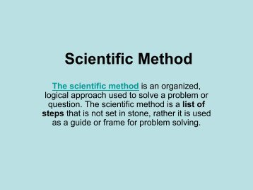 Scientific Method ppt pdf