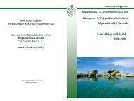 Tanszéki publikációk - Környezet- és Tájgazdálkodási Intézet