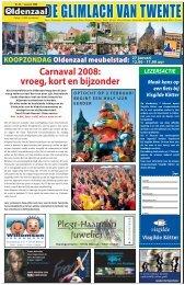 Carnaval 2008: vroeg, kort en bijzonder - Glimlach van Twente