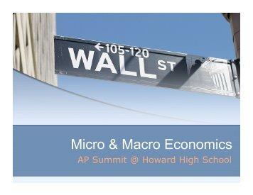 AP Micro/Macro Economics Overview - Howard High