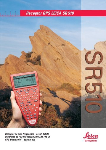 Receptor GPS LEICA SR 510 - Manfra