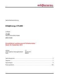 UTILMD MIG 5.1 Konsolidierte Lesefassung mit ... - Edi-energy.de