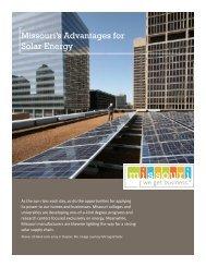 Missouri's Advantages for Solar Energy - Missouri Partnership