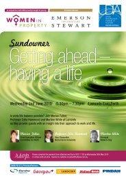 Sundowner - Urban Development Institute of Australia