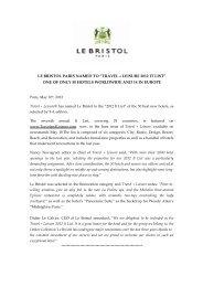 Travel+Leisure It List_May 2012 - Le Bristol