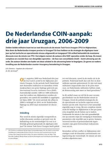 De Nederlandse COIN-aanpak: drie jaar Uruzgan ... - Boekje Pienter
