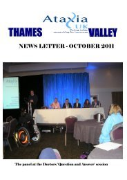 Newsletter - October 2011 - Ataxia UK