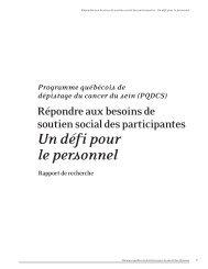 Mise en page 1 - Réseau québécois d'action pour la santé des ...