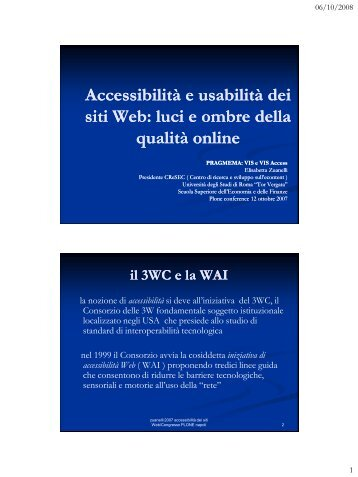 Accessibilità e usabilità dei siti Web - Icomit.it
