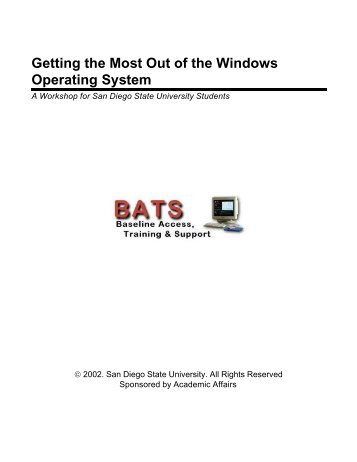 Getting the Most Out of the Windows Operating System