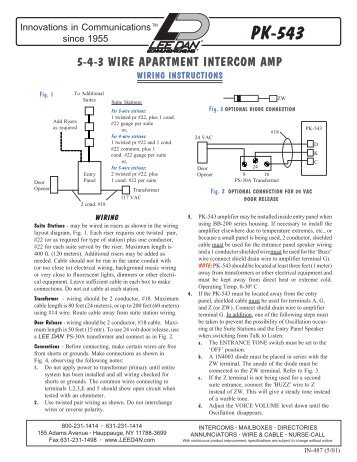 pk 543 3 4 5 wire intercom amplifier wiring diagram lee dan ?quality=85 wiring 2Wire Intercom Schematic at crackthecode.co