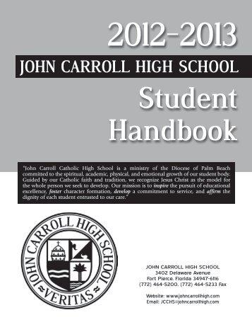 Student Handbook - John Carroll Catholic High School
