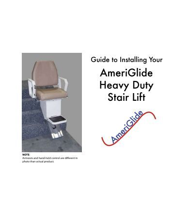Stannah 420 Straight Stair Lifts User Guide