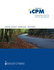 2008/2009 Annual report - International Centre for Pension ...