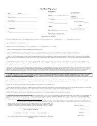 Boat Rental Agreement - North Side Marina and Resort