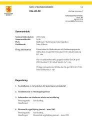 Dagordning för BUN 2013-04-24
