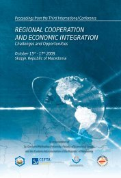 REGIONAL COOPERATION AND ECONOMIC INTEGRATION