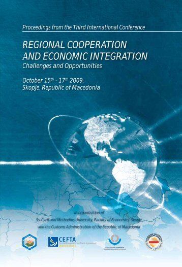 REGIONAL COOPERATION AND ECONOMIC INTEGRATION
