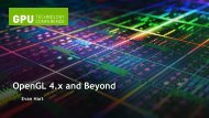 OpenGL 4.x and Beyond.pdf - NVIDIA Developer Zone