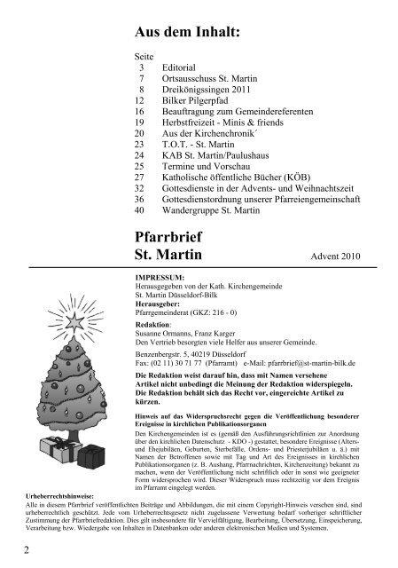 St. Martin - des Pfarrverbandes Bilk-Friedrichstadt