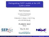 Novel gluino cascade decays and distinguishing ... - Planck 2012