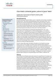 """Cisco WebEx unterstützt globale """"authors for peace"""" Aktion"""