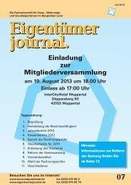 Ausgabe 07/2013 - Hausundgrundwtal.de