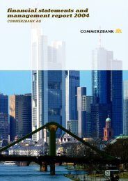 financial statements and management report 2004 commerzbank ag