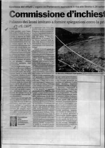 Comm.ne d'inchiesta a Messina - Dialogoweb.org