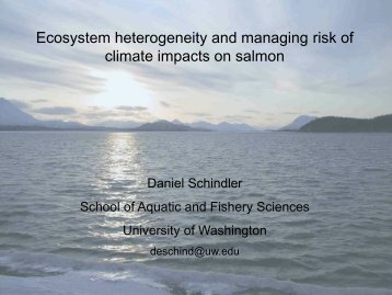 Ecosystem heterogeneity and managing risk of climate impacts on ...