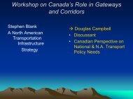 Workshop on Canada Workshop on Canada's Role in Gateways ...