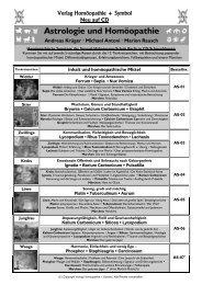 Astrologie und Homöopathie - Verlag Homöopathie + Symbol