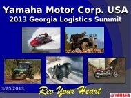 Jason Schweizer, Division Manager – Logistics, Yamaha Motor ...