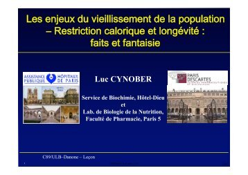 Les enjeux du vieillissement de la population ... - Danone Institute