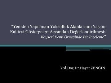 Hayat Zengin - Türkiye Sağlıklı Kentler Birliği