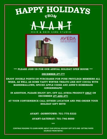 Holiday Open House 2011 - Avant Hair & Skin Care Studio