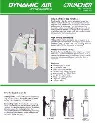 CRUNCHER® Bag Compactor Series 388 - Dynamic Air Inc.